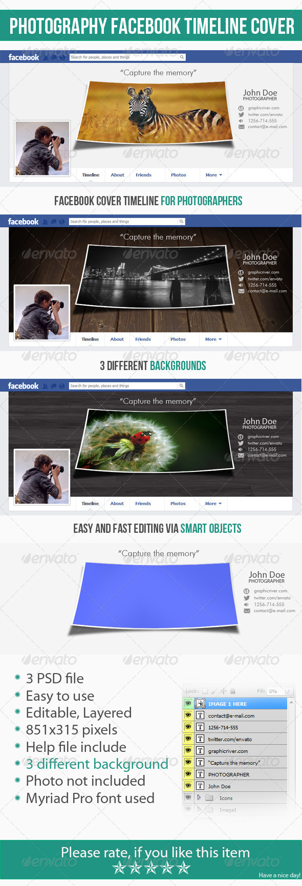 GraphicRiver Photography Facebook Timeline Cover 4762970