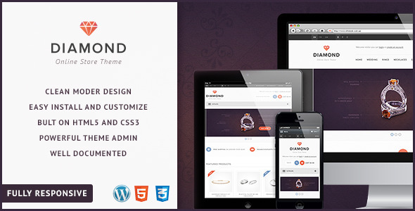 ThemeForest Diamond Responsive WooCommerce Theme 4762976