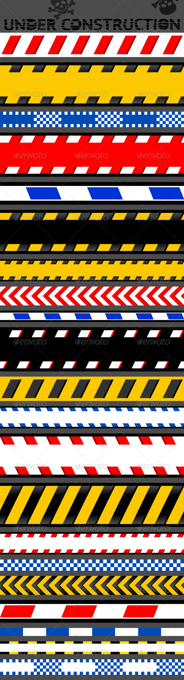 GraphicRiver 21 Caution Tapes 4763002