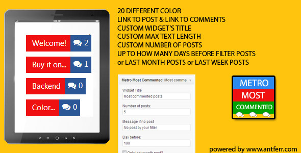 Metro Most Commented (Widgets) images