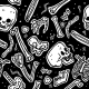 Pattern Made of Funny Skulls and Bones - GraphicRiver Item for Sale