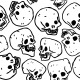 Pattern Made of Funny Skulls - GraphicRiver Item for Sale
