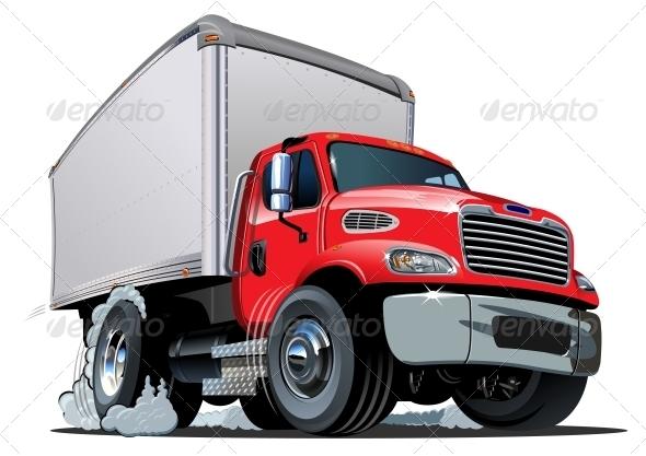 GraphicRiver Cartoon Delivery Cargo Truck 4763074