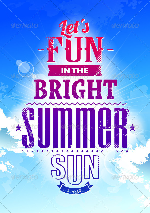 GraphicRiver Summer Typography on Blue Sky 4763112