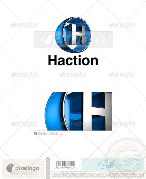 H Logo 3D-438-H