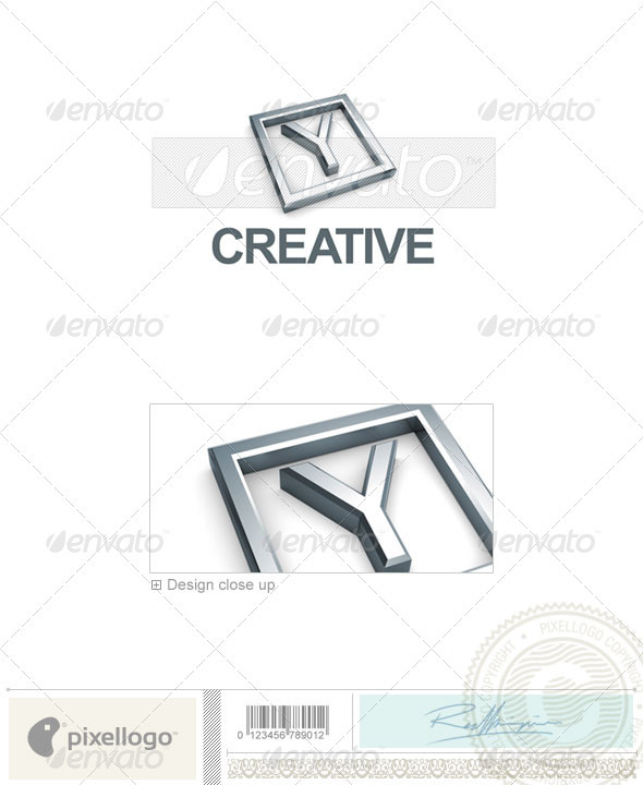 Logo - 3D-295-Y ...Y Logo 3d