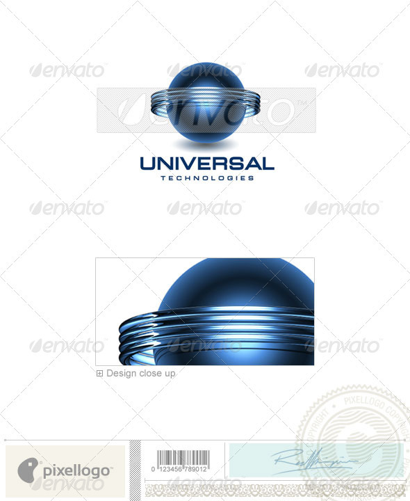 GraphicRiver Communications Logo 3D-130 496789