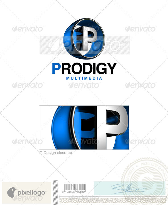 ... whose name starts with the letter p this is a layered logo template