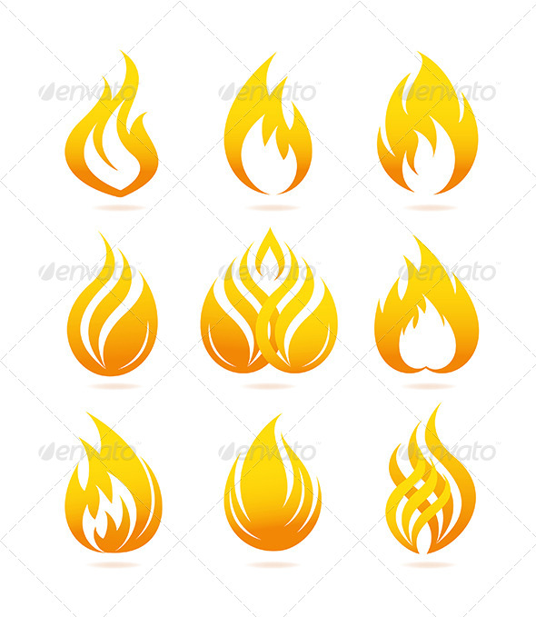 GraphicRiver Fire Icons Set 4763280