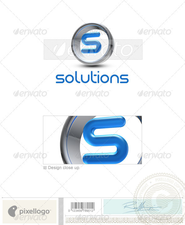 Logo - 3D-288-S ...K Logo 3d