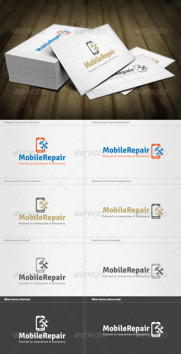 GraphicRiver Mobile Repair Logo 4763306