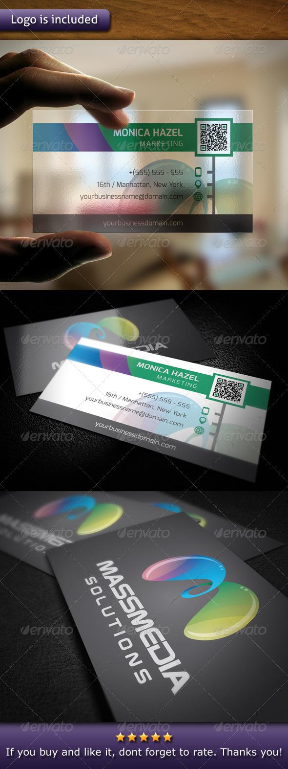 GraphicRiver Modern Marketing Logo Business Card 4763312