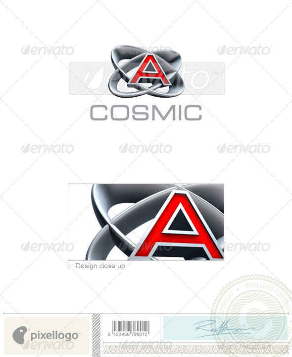 A Logo 3D-348-A