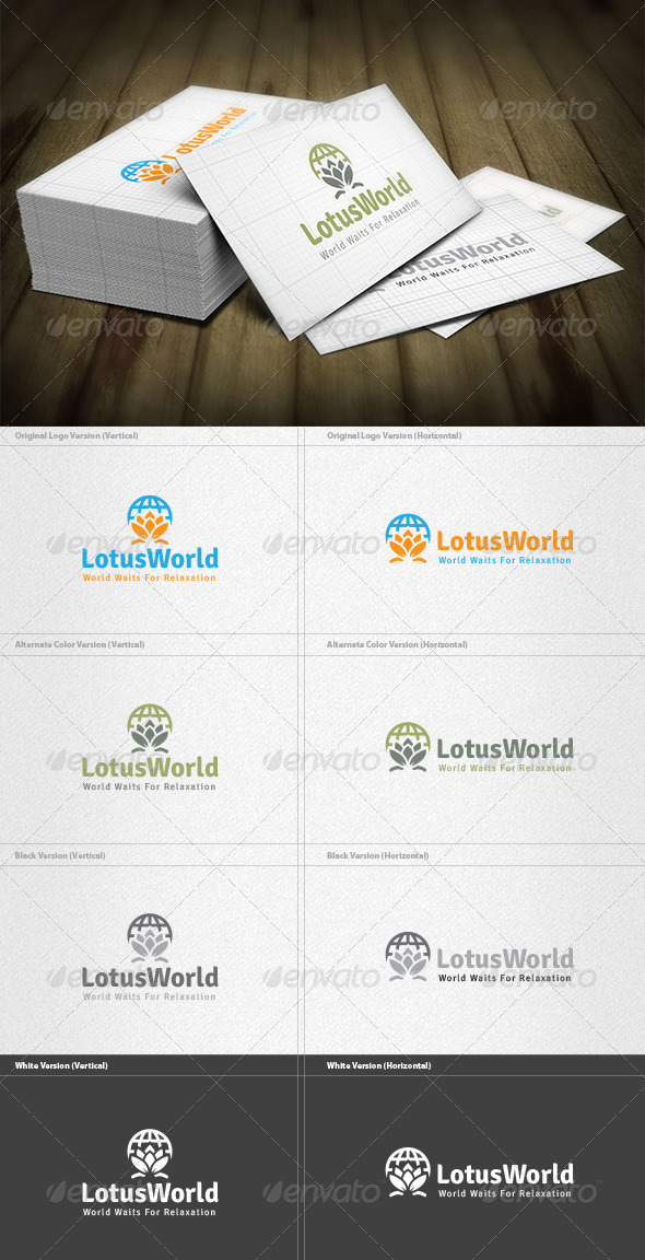 GraphicRiver Lotus World Logo 4763374