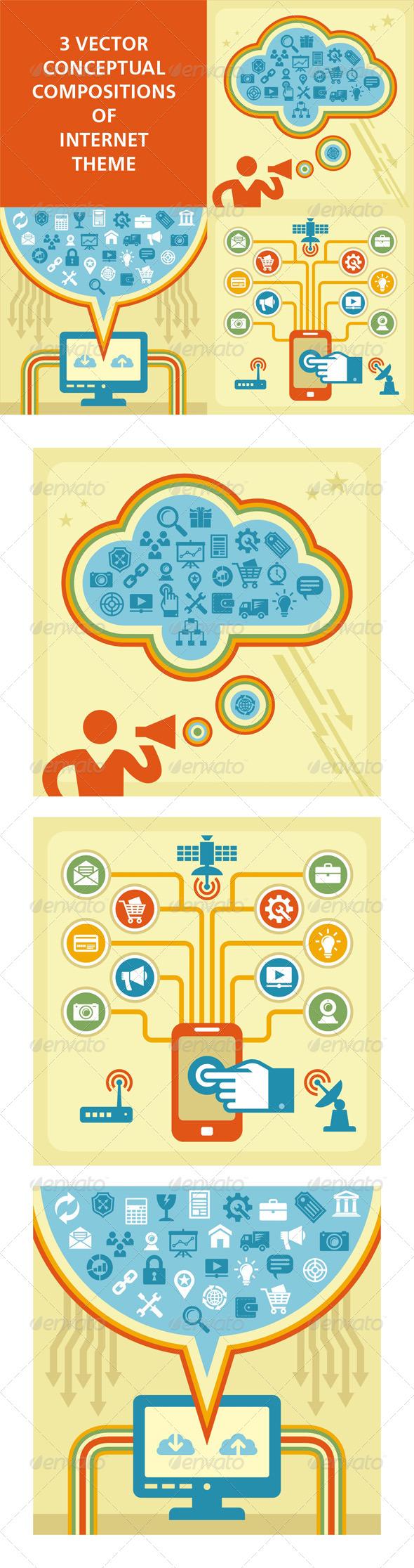 GraphicRiver 3 Internet Concept 4763455