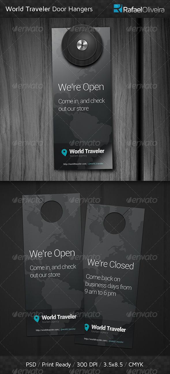 GraphicRiver World Traveler Door Hangers 4691316