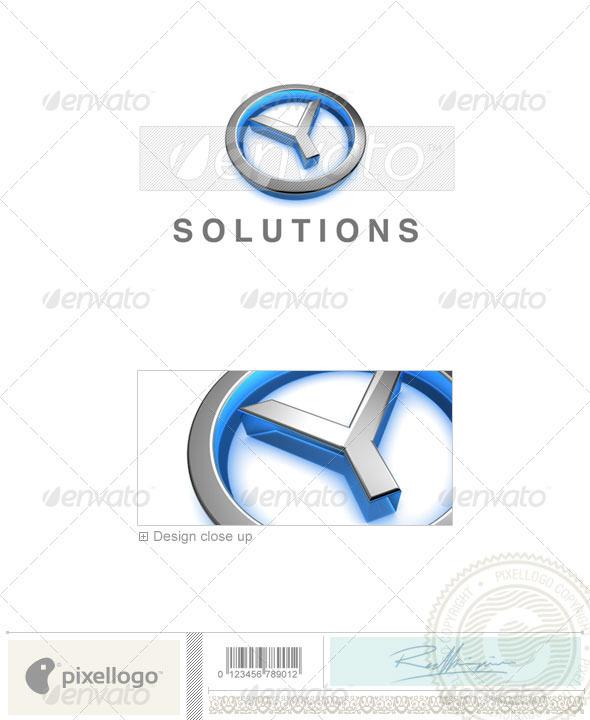 Logo - 3D-683-Y ...Y Logo 3d
