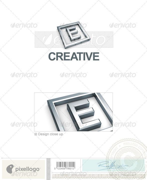 e Letter Logo 3d e Logo 3d 295 e Letters