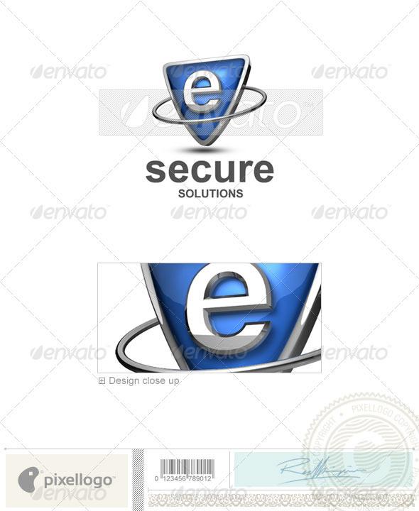 e Letter Logo 3d e Logo 3d 285 e Letters