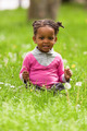 Outdoor close up portrait of a cute little young black girl - Af - PhotoDune Item for Sale