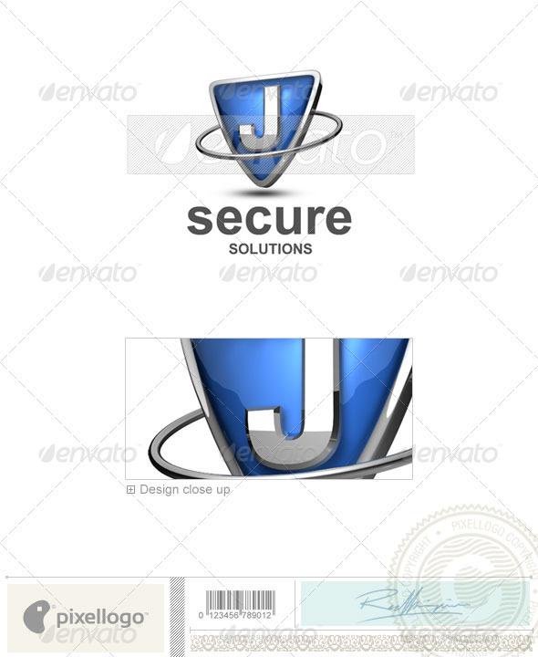 J Logo 3d Logo - 3D-285-J...
