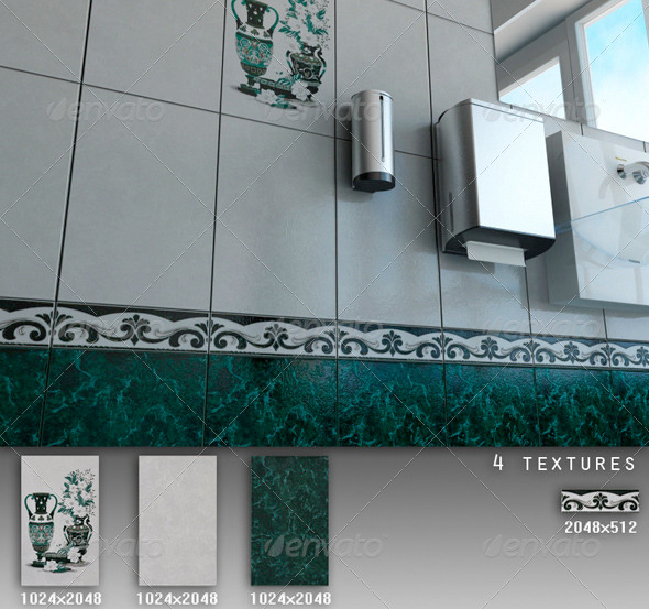 Professional Ceramic Tile Collection C046 - 3DOcean Item for Sale