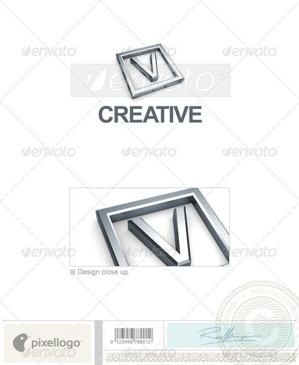 GraphicRiver V Logo 3D-295-V 496997