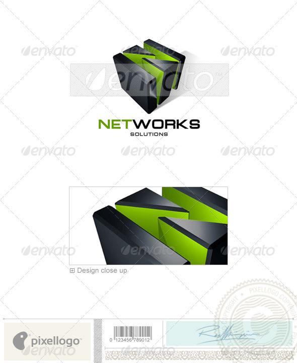 Technology Logo - 3D-132