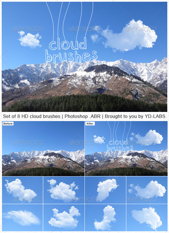 GraphicRiver Cloud Brushes 4764129