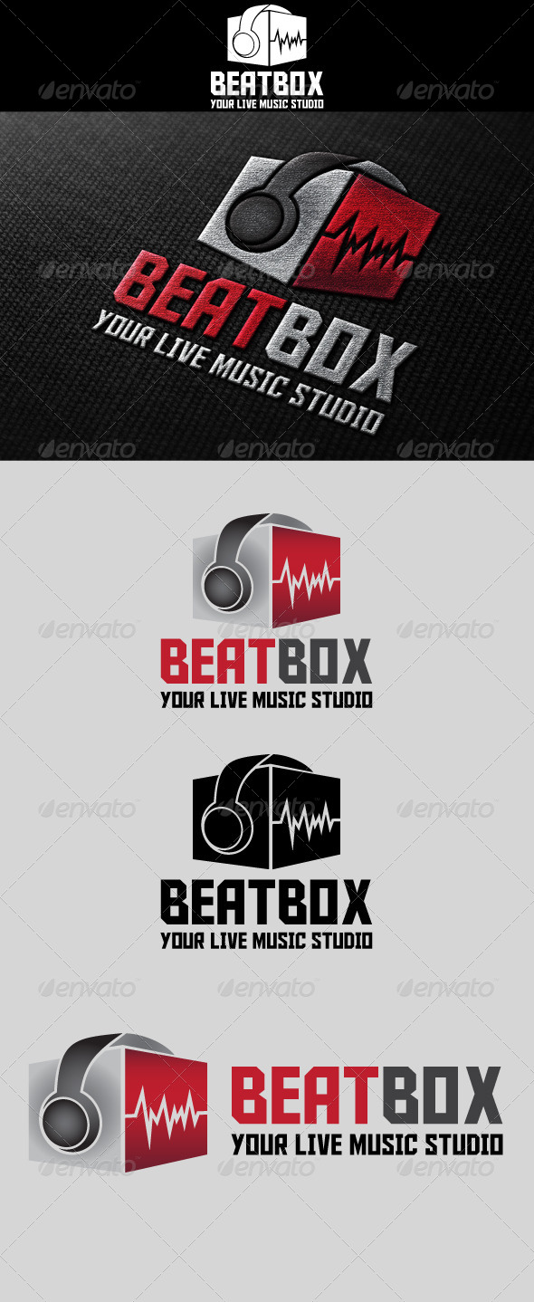 GraphicRiver BeatBox Music Studio Logo 4751539