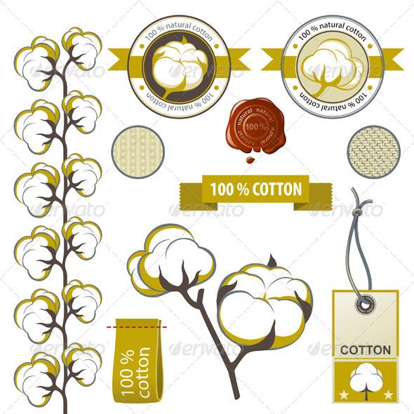 GraphicRiver Cotton Emblems 4764272