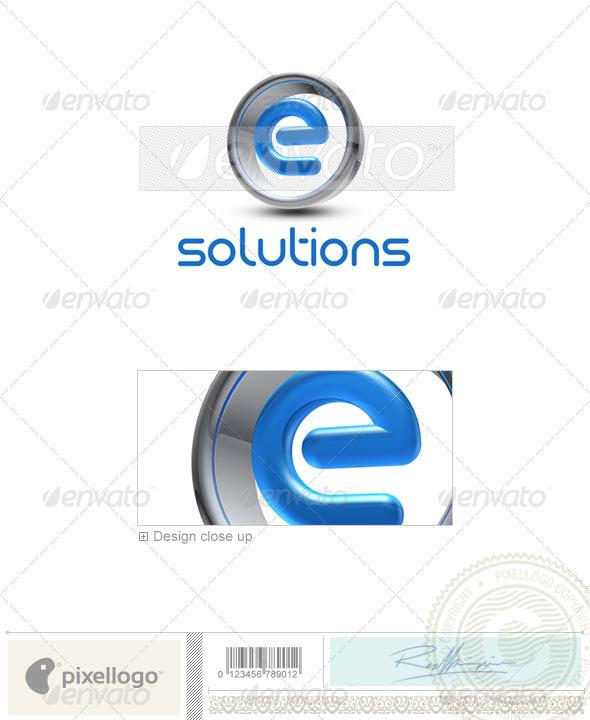 GraphicRiver E Logo 3D-288-E 497076