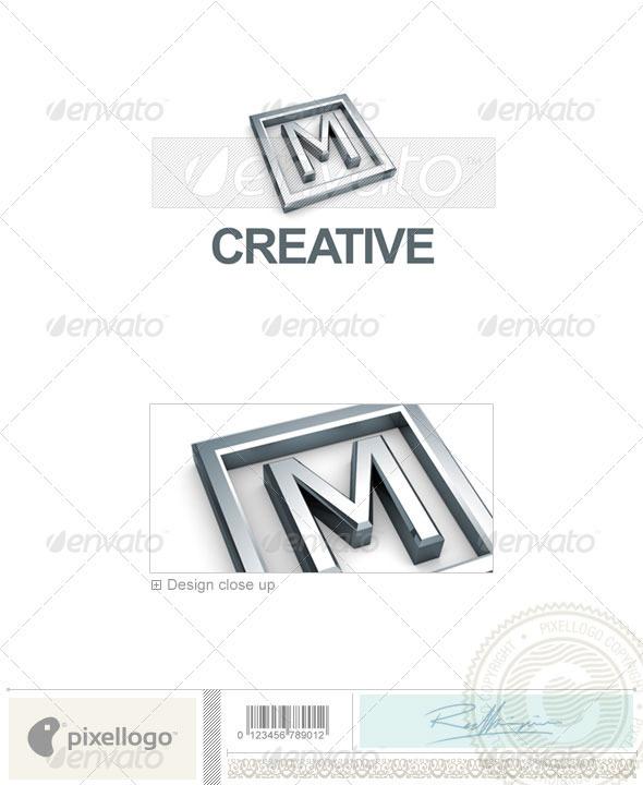 M Logo 3D-295-M