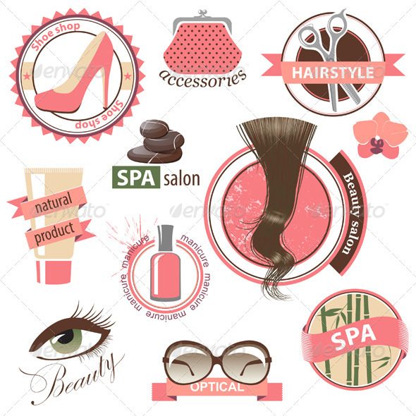 GraphicRiver Beauty and Fashion Emblems 4764296