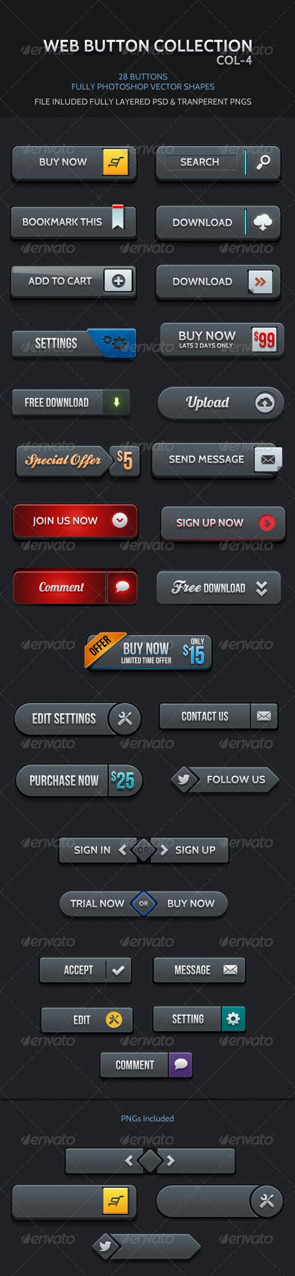GraphicRiver Web Buttons Col 4 4764299