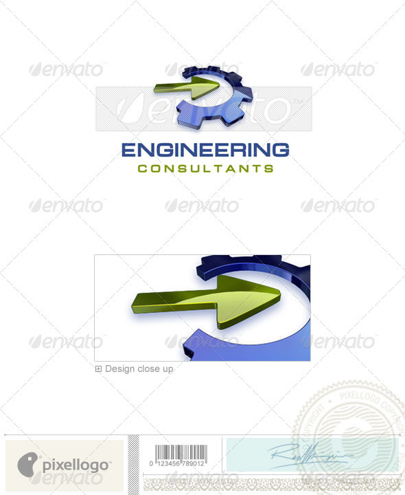 GraphicRiver Industry & Science Logo 3D-325 497113