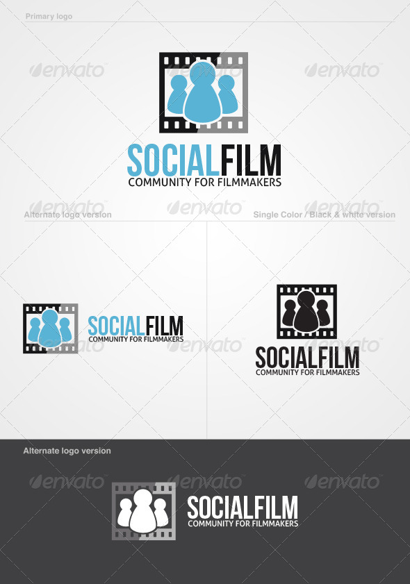 GraphicRiver SocialFilm Logo Template 4764305