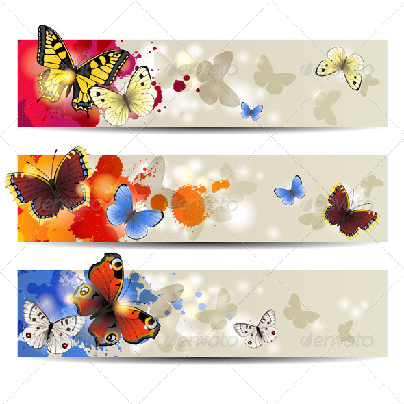 GraphicRiver Butterfly Banners 4764311