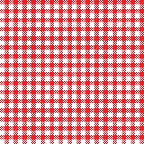 GraphicRiver Red and White Tablecloth Pattern 4764318