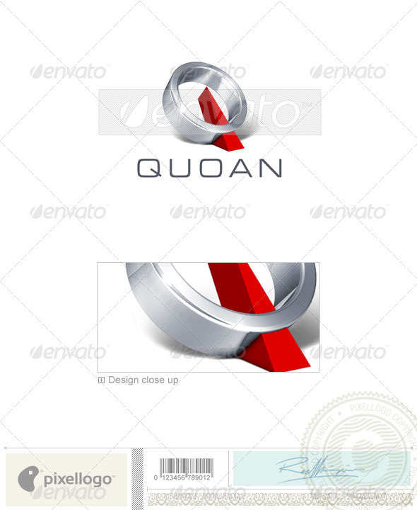 Q Logo 3D-277