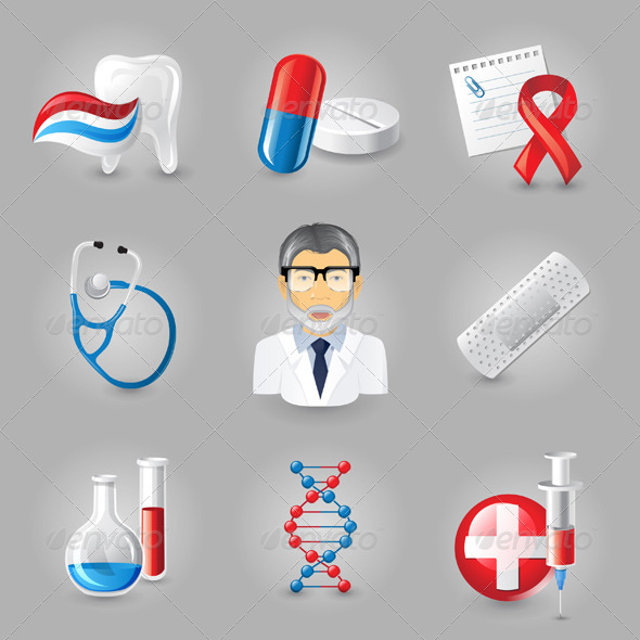 GraphicRiver Medical Icons 4764325