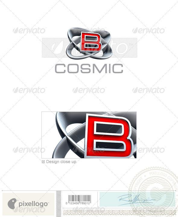 B Logo 3D-348-B