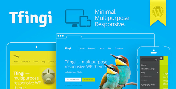 Tfingi • Responsive Multipurpose WordPress Theme (Corporate) images