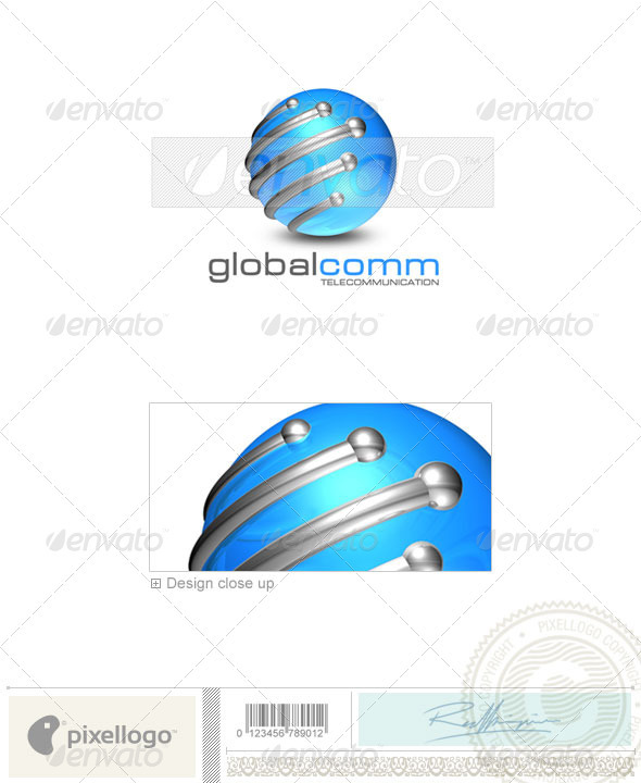 Communications Logo 3D-176