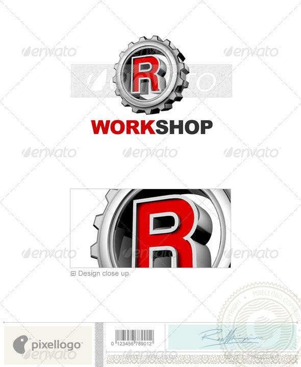R Logo 3D-292-R