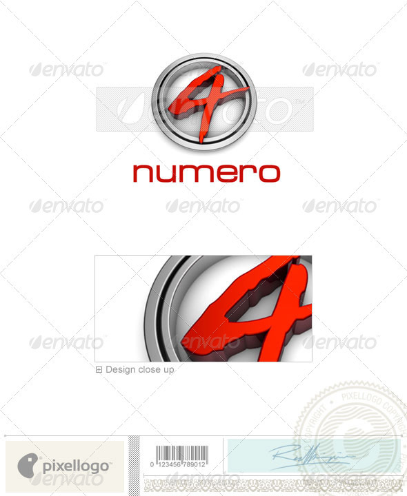 Numbers Logo - 3D-24 - Numbers Logo Templates