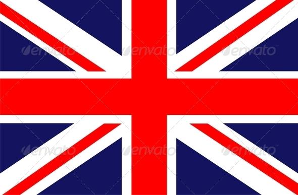 Flag of UK - Stock Photo - Images