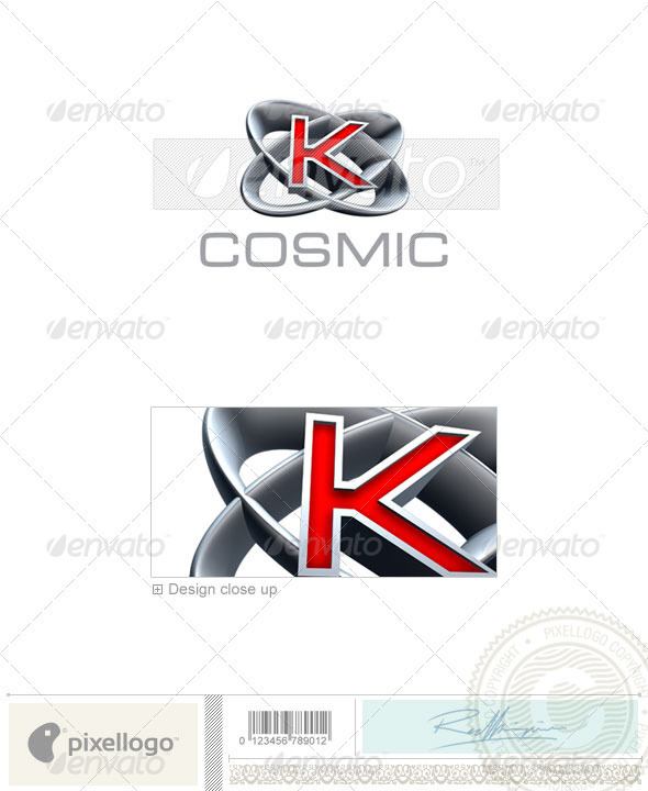 Logo - 3D-348-K ...K Logo 3d