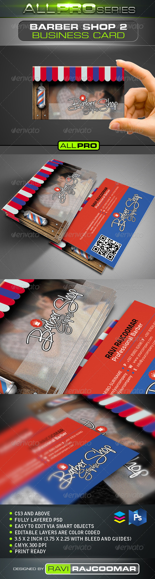 GraphicRiver The Barbershop Business Card Vol.2 4765034