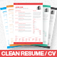 Clean Resume / CV - GraphicRiver Item for Sale